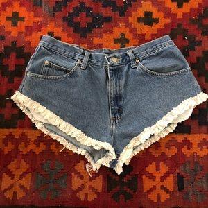 Vintage Wrangler Denim Booty shorts with Trim
